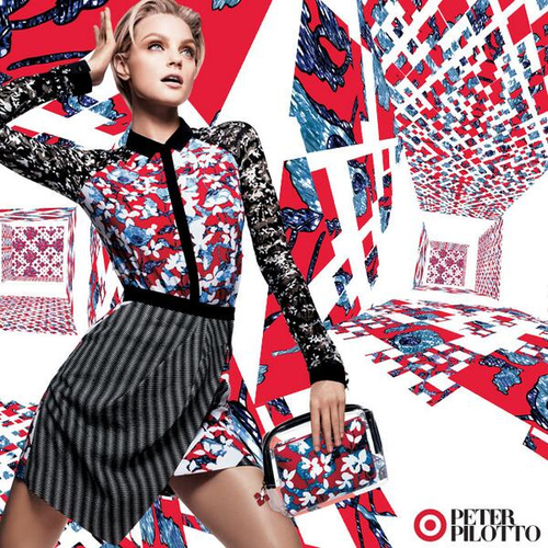 """Photo <a href=""""http://racked.com/archives/2014/01/13/spot-the-first-peter-pilotto-for-target-ad.php"""">via</a>"""