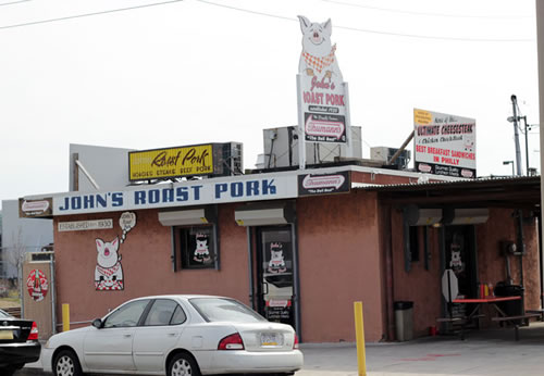The cheesesteak at John's Roast Pork comes in at number five on Alan Richman's list.