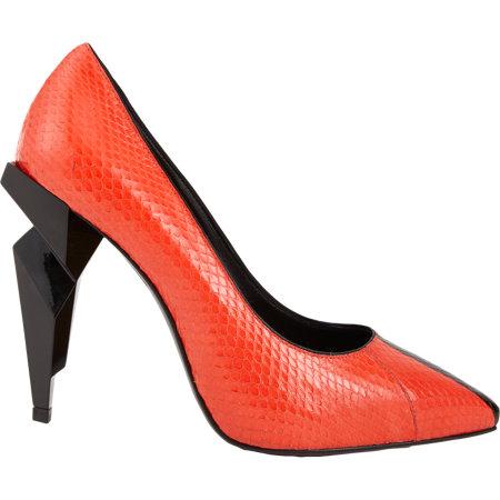 "Red snakeskin Fendi heels, <a href=""http://www.barneys.com/Fendi-Diamond-heel-Snakeskin-Pump/503130968,default,pd.html?gclid=CJKrx7Xu6rsCFc6VfgodP2IALw"">$990</a> at Barney's"