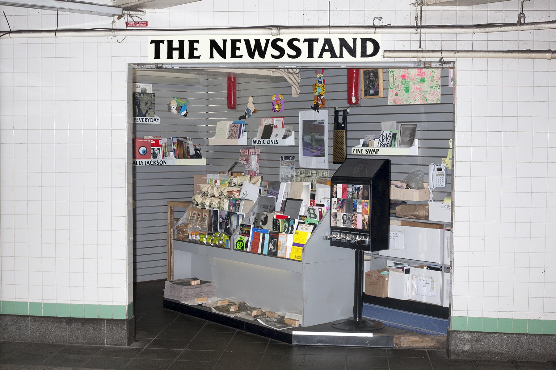 Alldayeveryday's MTA newsstand. Photo by David Brandon Geeting.