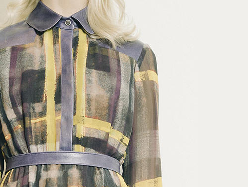 "Plaid Chiffon Dress detail via <a href=""http://www.emersonbyjfs.com/#!product/prd1/1296237171/plaid-chiffon-dress"">Emerson by JFS</a>"