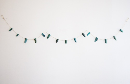 This <b>Kiel Mead</b> wood garland ($35) is exclusive to the pop up.
