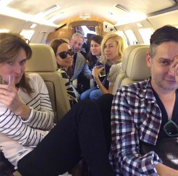 """Cameron Silver and pals after landing in Mexico City. Image via @camerondecades/<a href=""""http://instagram.com/p/gt2kj4PV4z/"""">Instagram</a>"""