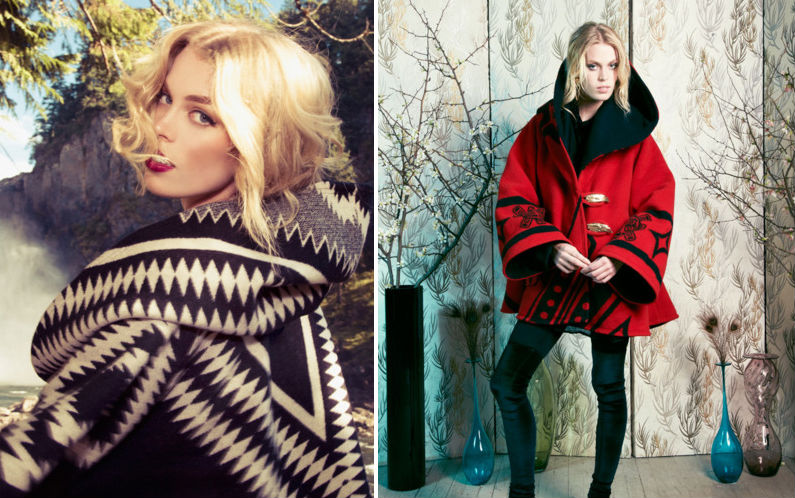 Two cloaks from the Lindsey Thornburg collection for Pendleton