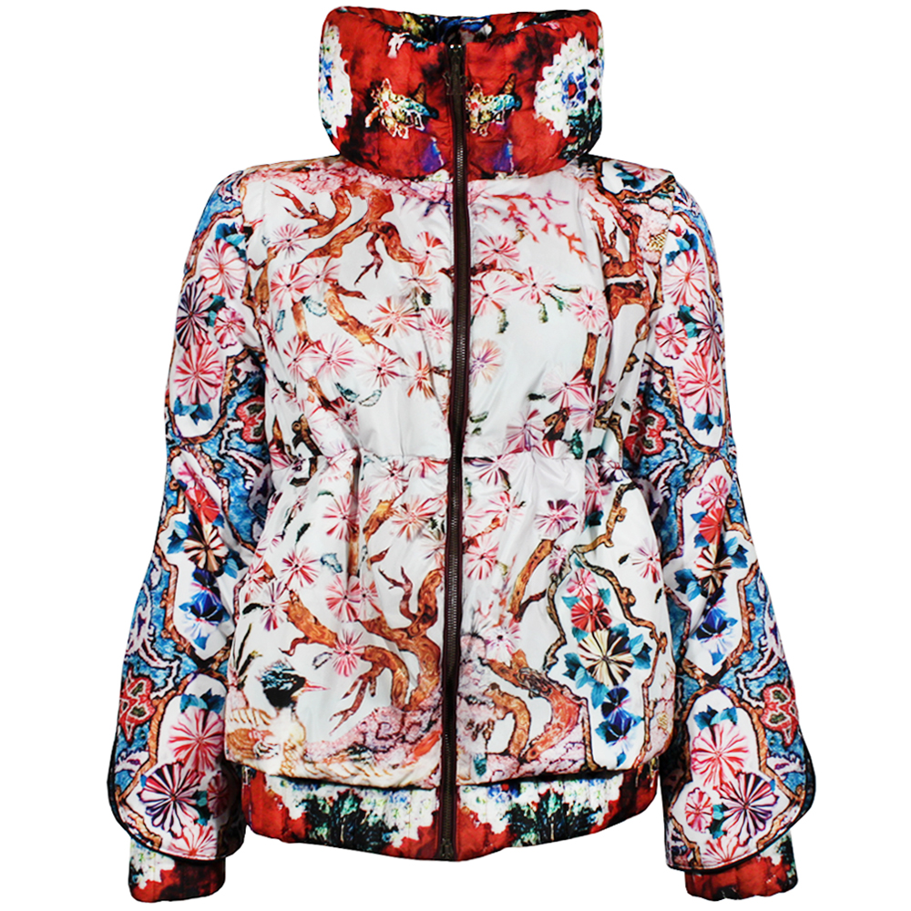 "<b>Moncler M by Mary Katrantzou</b> Fiest Blossom Jacket at <b>Riccardi</b>, <a href=""http://riccardiboston.com/shop/womens/designers/moncler-m/"">$1990</a>"