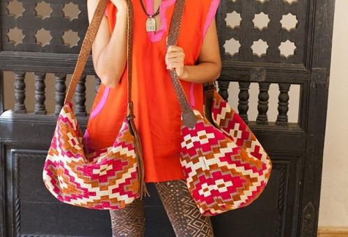 "<a href=""https://mushmina.myshopify.com/collections/handbags/products/mina-zelij-orange-pink"">Fair-trade Mina Zelij bag</a>, $140 at Mushmina. Image credit: Mushmina"