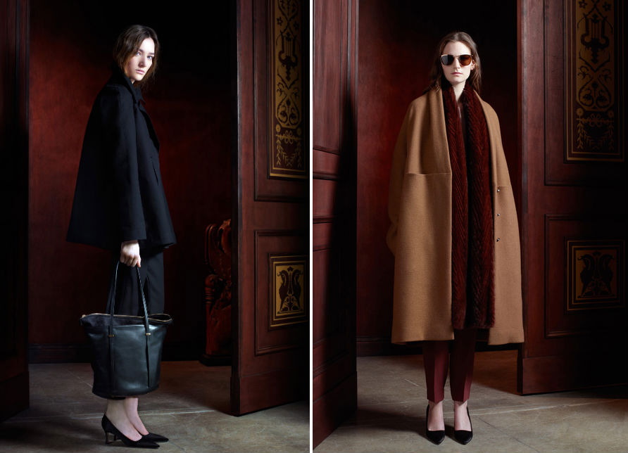 Two looks from The Row's pre-fall collection