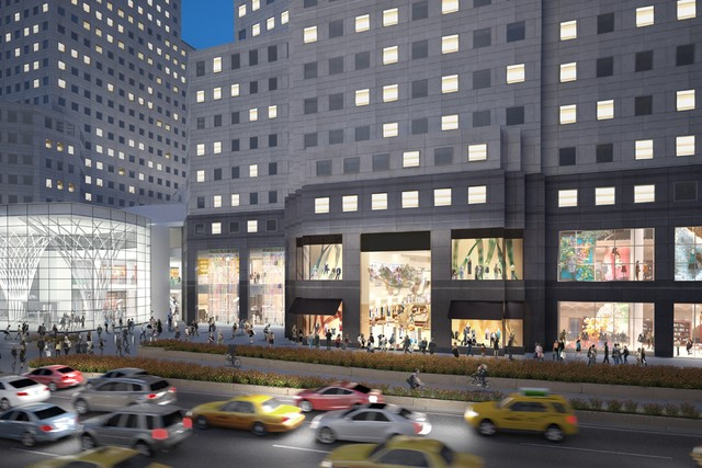 """A rendering of Brookfield Place via <a href=""""http://www.wwd.com/retail-news/designer-luxury/burberry-said-opening-brookfield-unit-6776159?navSection=issues"""">WWD</a>"""