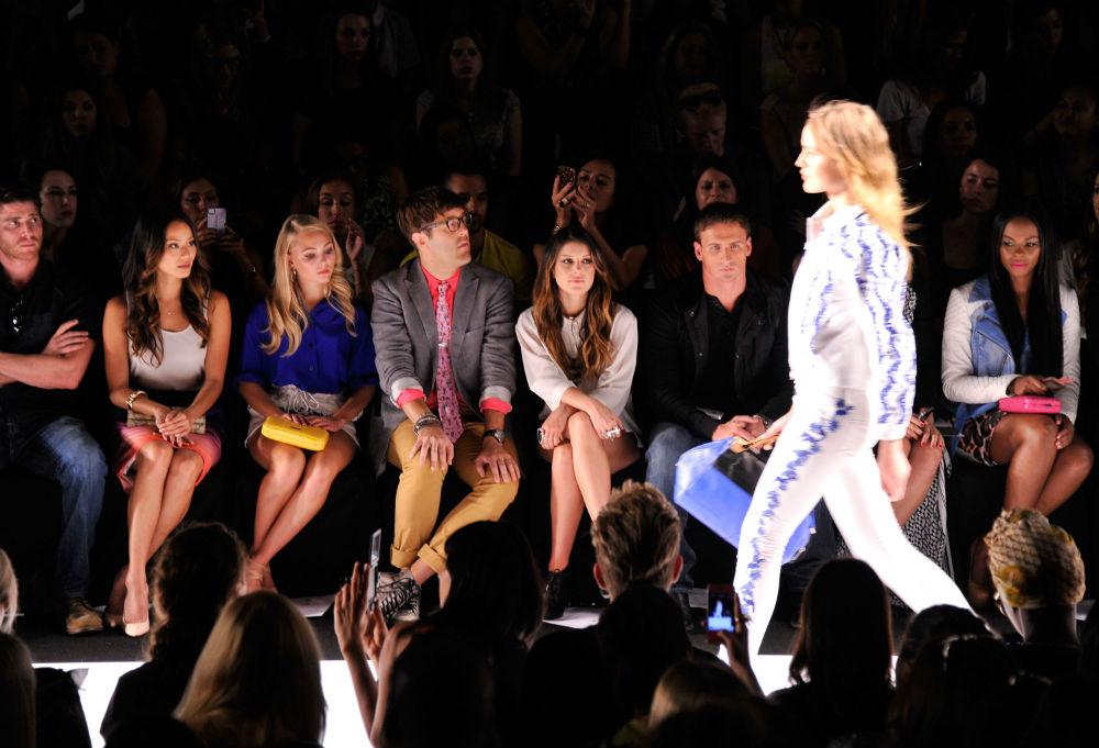 Rebecca Minkoff's spring 2013 runway show. Image via Getty.