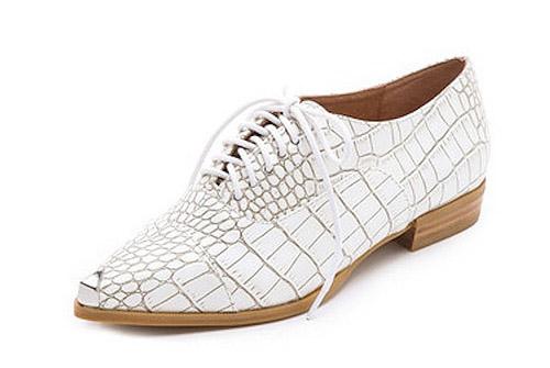 "Jeffrey Campbell Damone oxford flat, $134.95 at <a href=""http://shop.nordstrom.com/s/jeffrey-campbell-damone-oxford-flat/3513947?cm_cat=datafeed&amp;cm_ite=jeffrey_campbell_'damone'_oxford_flat:904816&amp;cm_pla=shoes:women:flats&amp;cm_ven=Google_P"