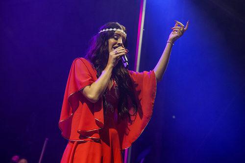 Lana del Rey brings flower power to Lollapalooza
