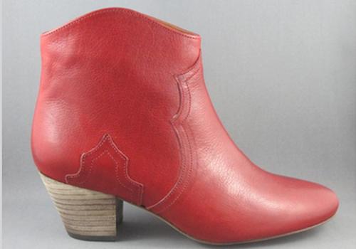 The Isabel Marant Dicker boots in Bordeaux. Image via Jonathan+Olivia