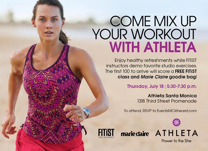 Flyer via Athleta