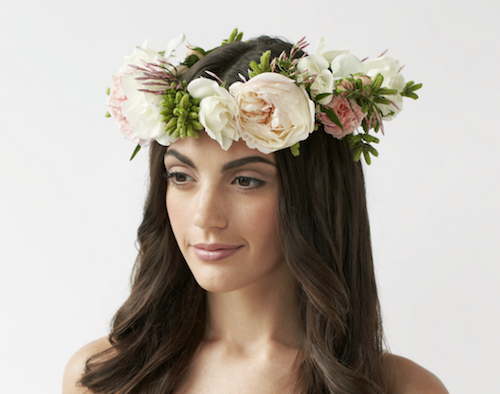 """Image credit: <a href=""""http://blogs.phillymag.com/bridal_bulletin/2013/02/12/love-fresh-flower-crowns-warm-weather-weddings/"""">Philly Mag</a>"""