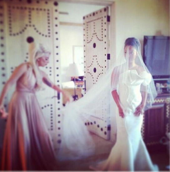 Lady Gaga as You've Never Seen Her Before: In a Bridal Party