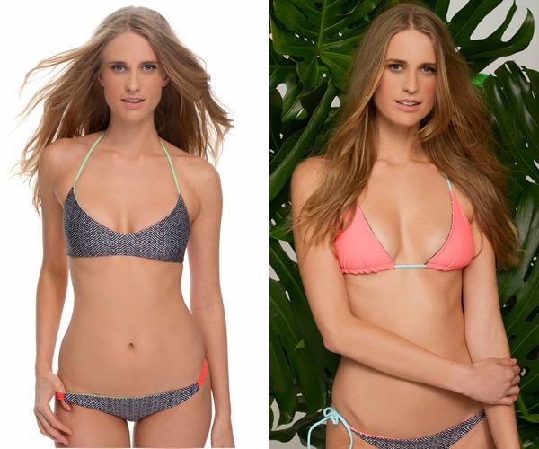 Model Julie Henderson in her collaboration with Basta Surf