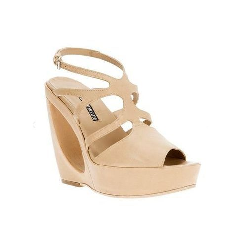 Ann Demeulemeester Sculpted Wedge Sandal, $648.83 (on sale from $763.33)