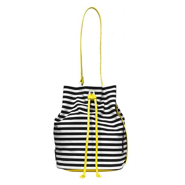 "<a href=""http://www.saturday.com/Bucket-Bag-in-Stripe/4IRU0021,en_US,pd.html?dwvar_4IRU0021_color=007"">Bucket Bag in Stripe</a>, $120 at Kate Spade Saturday"