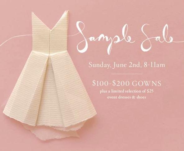 Two Mindblowing Bridal Sample Sales To Shop