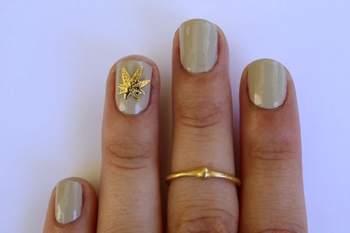 Here's One Way to Celebrate 420: With a Pot Leaf Nail Art Pop-Up