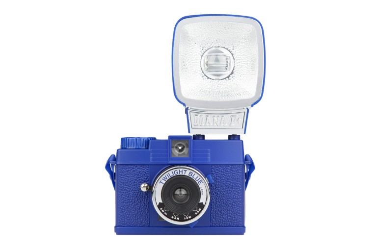 The Lomography Diana Mini and Flash Package in Twilight Blue.