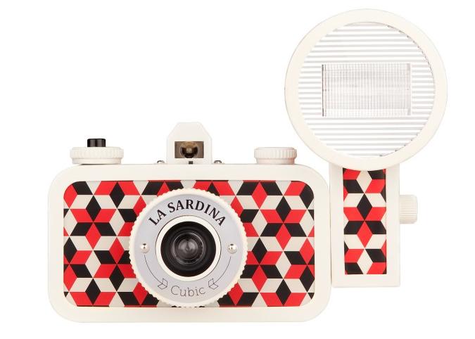 "The <a href=""http://shop.lomography.com/us/cameras/la-sardina-family/la-sardina-camera-and-flash-cubic"">Lomography</a> La Sardina Camera and Flash Cubic"