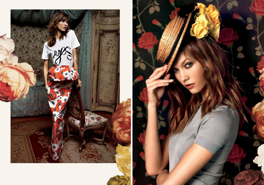 "Image via <a href=""http://www.graziadaily.co.uk/fashion/news/karlie-kloss-gets-girlie-in-the-spring-summer-2013-campaign-for-moda-operandi"">Grazia</a>"