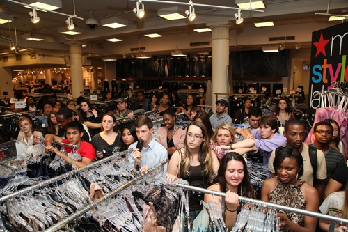 The scene at Macy's, via Getty Images