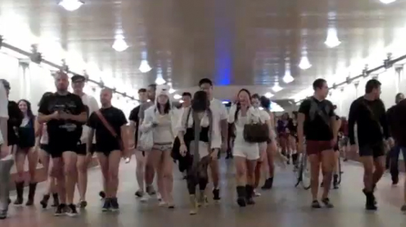 "Still via <a href=""http://santamonica.patch.com/articles/a-pantsless-mission-on-metro-if-you-choose-to-accept-it#youtube_video-8861209"">SaMo Patch</a>"