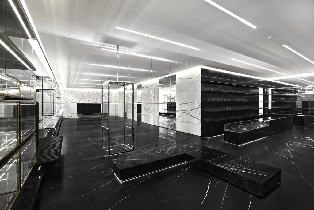"""The Saint Laurent in <a href=""""http://ny.racked.com/archives/2012/09/19/heres_what_the_ysl_store_in_soho_will_probably_look_like.php"""">Shanghai</a>, aka what the Soho store will probably look like"""
