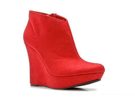 """You could buy two paris of these <a href=""""http://www.dsw.com/shoe/michael+antonio+cane+wedge+bootie?prodId=dsw12prod3830075&amp;category=dsw12cat1100004&amp;activeCats=cat10006,cat20173,dsw12cat1100004"""">Robert Antonio Cane booties</a> if you snag a"""
