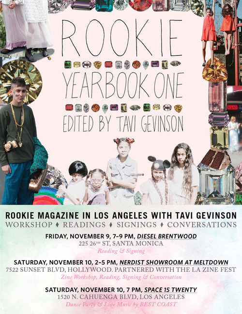 """Flier via <a href=""""http://rookiemag.tumblr.com/post/35316986663/la-rookies-come-to-all-the-parties-this-weekend"""">Rookie</a>"""