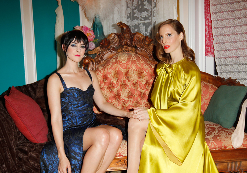 Jena Malone and Liz Goldwyn. Photos courtesy of MAC Cosmetics