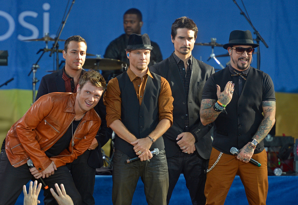 The Backstreet Boys performing last month. Photo via Getty Images.