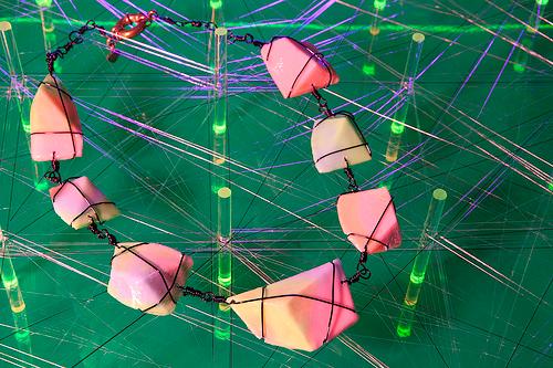 "Necklace by Mctega. Photo via <a href=""http://www.hesterstreetfair.com/hollywood/"">Hester Street Fair</a>"