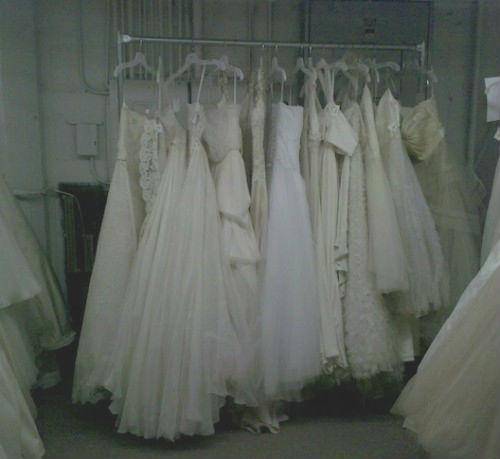 Dresses at the Monique Lhuillier sample sale
