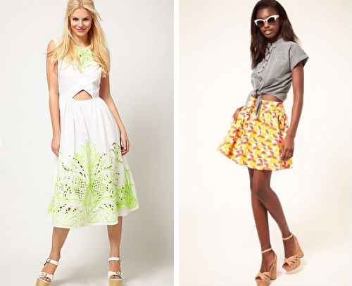 "<a href=""http://www.asos.com/ASOS/ASOS-Midi-Dress-With-Neon-Embellishment/Prod/pgeproduct.aspx?iid=1993952&amp;cid=14253&amp;sh=0&amp;pge=0&amp;pgesize=200&amp;sort=-1&amp;clr=White"">Midi dress</a>, $118.29 (was $147.86), and <a href=""http://www.aso"