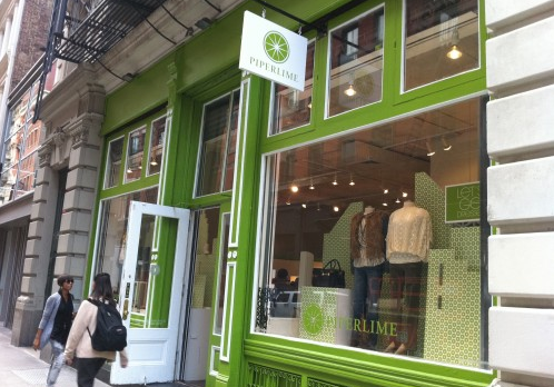 Piperlime's Soho pop-up shop from 2010