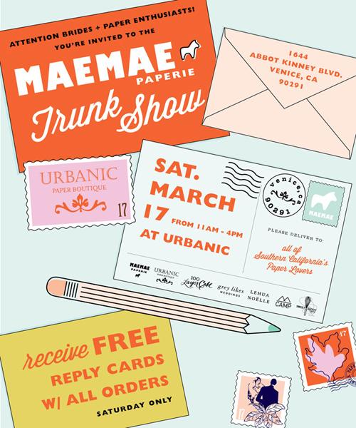 Urbanic Paper Boutique's next trunk show