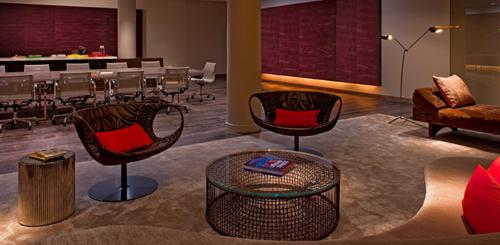 "The mezzanine at the Andaz. Photo via the <a href=""http://westhollywood.andaz.hyatt.com/"">Andaz</a>."