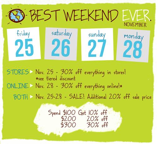 Planet Blue's sale flyer