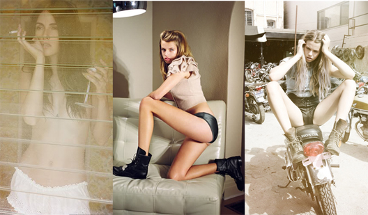 Left to right: another image from Jason Lee Parry; a provocative photo of Hailey Clauson; the photo that's causing all the fuss