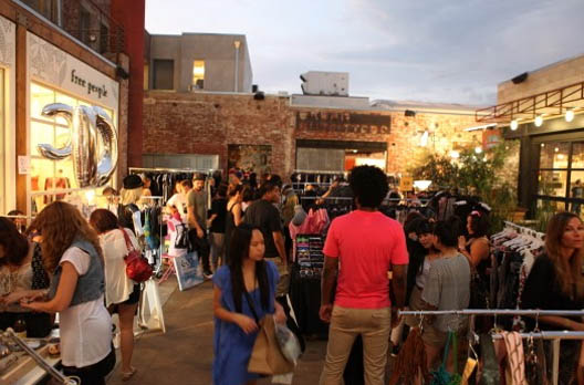 A scene from the last Midsummer Night's Sample Sale. A lot of great shopping and fun!