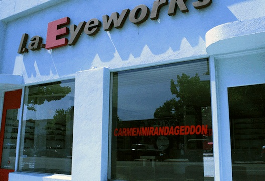 Nope, it's not Carmegeddon, it's CarmenMirandageddon at l.a. Eyeworks