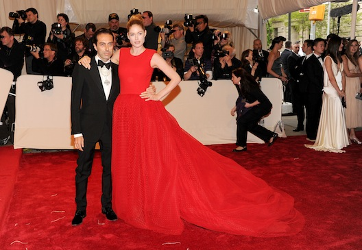 Giambattista Valli and Doutzen Kroes at the Met Gala via Getty Images
