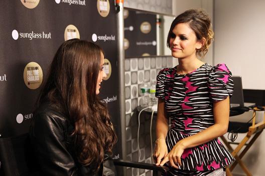 Meet your new boss: Rachel Bilson at Fashion's Night Out via Sunglass Hut
