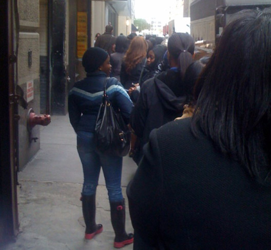 """The line outside <a href=""""http://ny.racked.com/archives/2009/11/13/lineblogging_the_christian_louboutin_rumors_are_true.php"""">last November's sale</a>"""