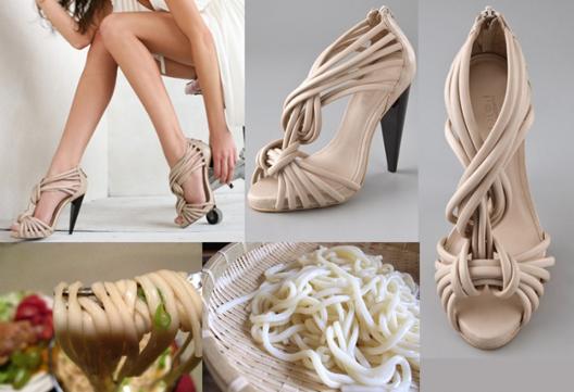 "Image via <a href=""http://doanie.wordpress.com/2010/04/09/yummy-ports-1961-shoe-reminds-me-of-udon-noodles/"">Doanie</a>"