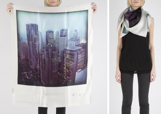 """Image via <a href=""""http://www.unplggd.com/unplggd/decorative-accessories/stay-warm-in-geek-style-with-polaroid-scarf-108158"""">Apartment Therapy</a>"""