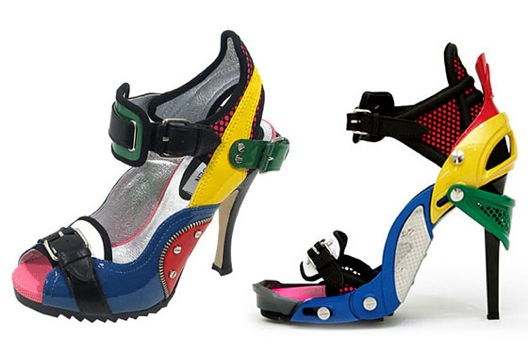 """Did either of these actually sell? Image via <a href=""""http://nymag.com/daily/fashion/2009/12/balenciaga_sues_steve_madden.html"""">The Cut</a>."""